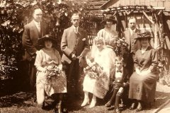 Wedding of Hilda Platt, 1922