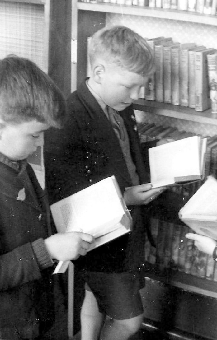 In the Library at Far Cotton Primary School. 1961