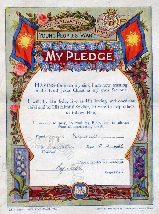 Salvation Army Pledge