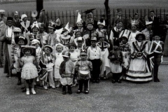 Coronation Day celebrations outside Far Cotton Recreation Ground.