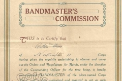 Bandmaster's Commission