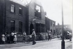 The original Far Cotton Working Men's Club building after the 1959 fire