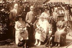 Wedding of Hilda Platt, 1922