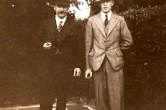Reginald Harry Bland and his father John. 1933