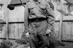 Private Reginald Bland in the Home Guard.