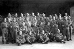 Home Guard, E Company Railway Group, No 16 Platoon at Far Cotton Loco Sheds.