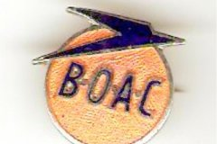 BOAC souvenir badge