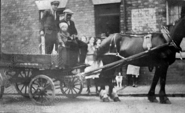 James Bland with his horse & cart in Henley Street