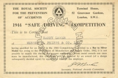 Safe Driving Certificate