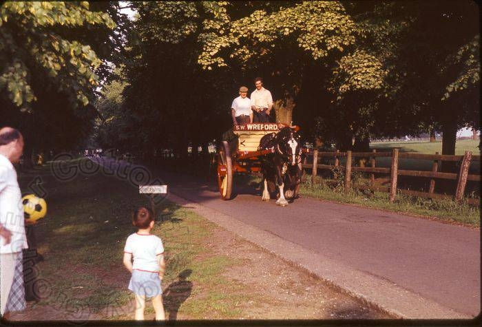 Wreford's cart in the 1990s.