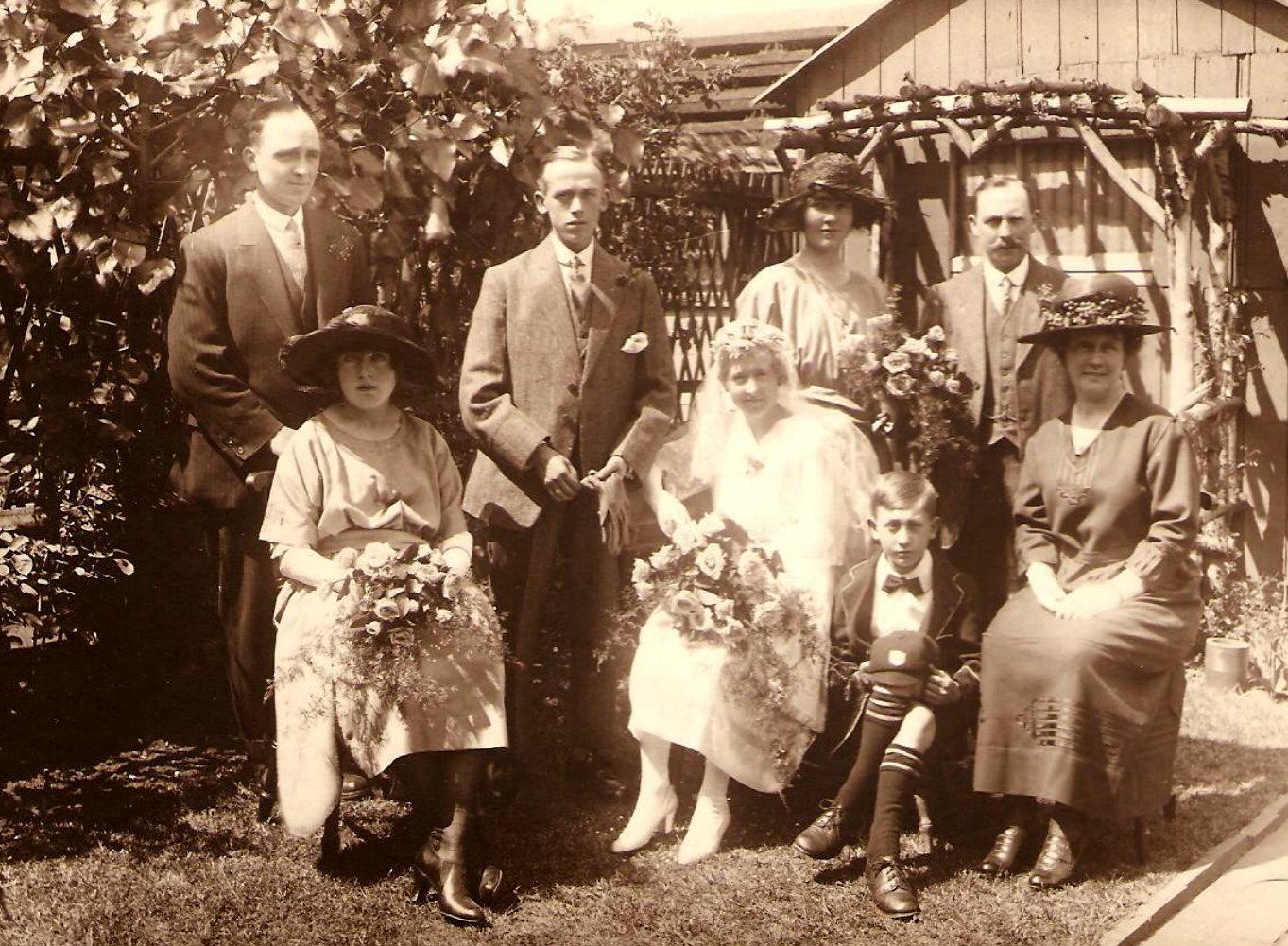 The wedding of James and Hilda Platt