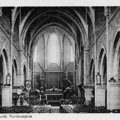 Interior of St Mary's Church c 1920